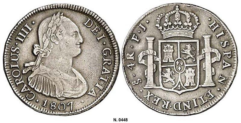 4 Reales de Carlos IV (Santiago FJ, 1807) [WM n° 7442] Bf2101a22e42188881cc0676aa30e289o