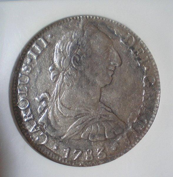 8 Reales de Carlos III (México, 1783) procedente del pecio El Cazador F69743a87eb257934f61a3dcba6391bfo
