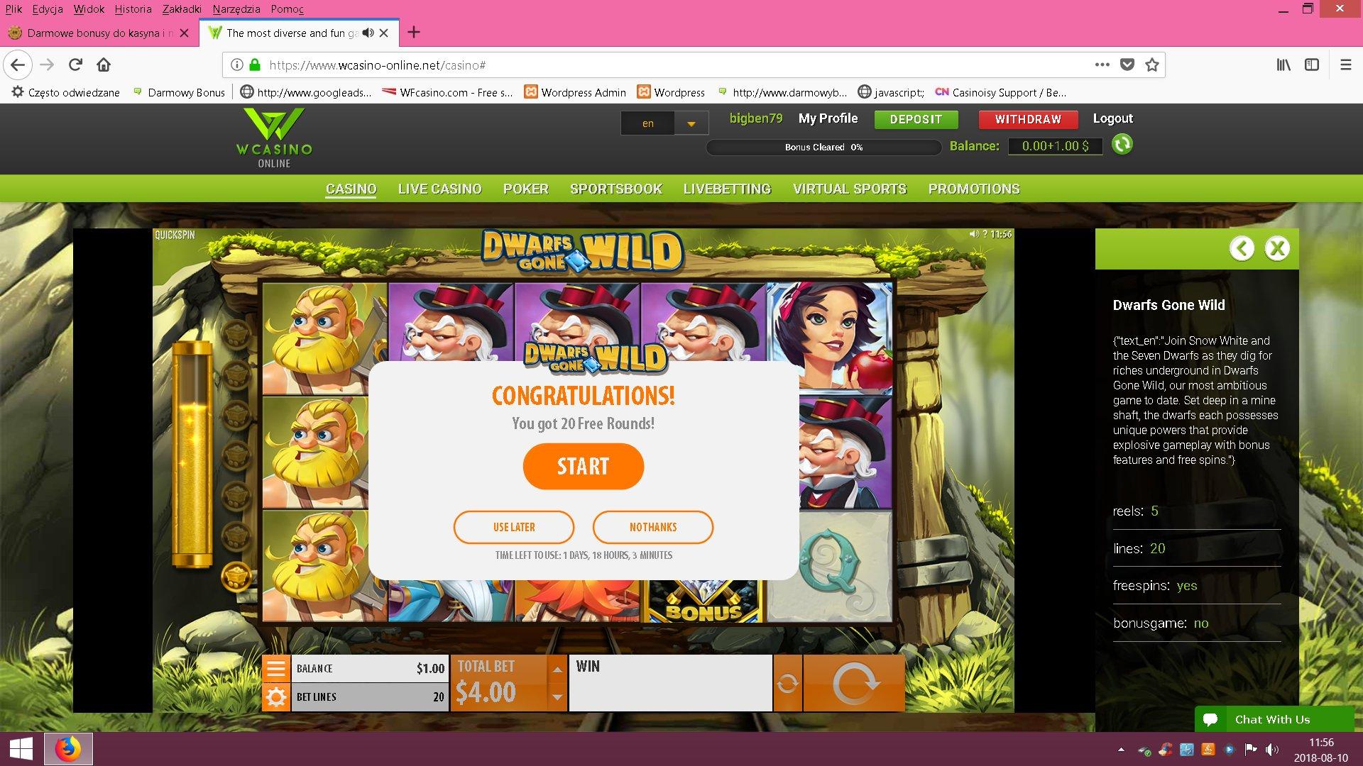 Wcasino 3 USD no deposit bonus - Page 2 1