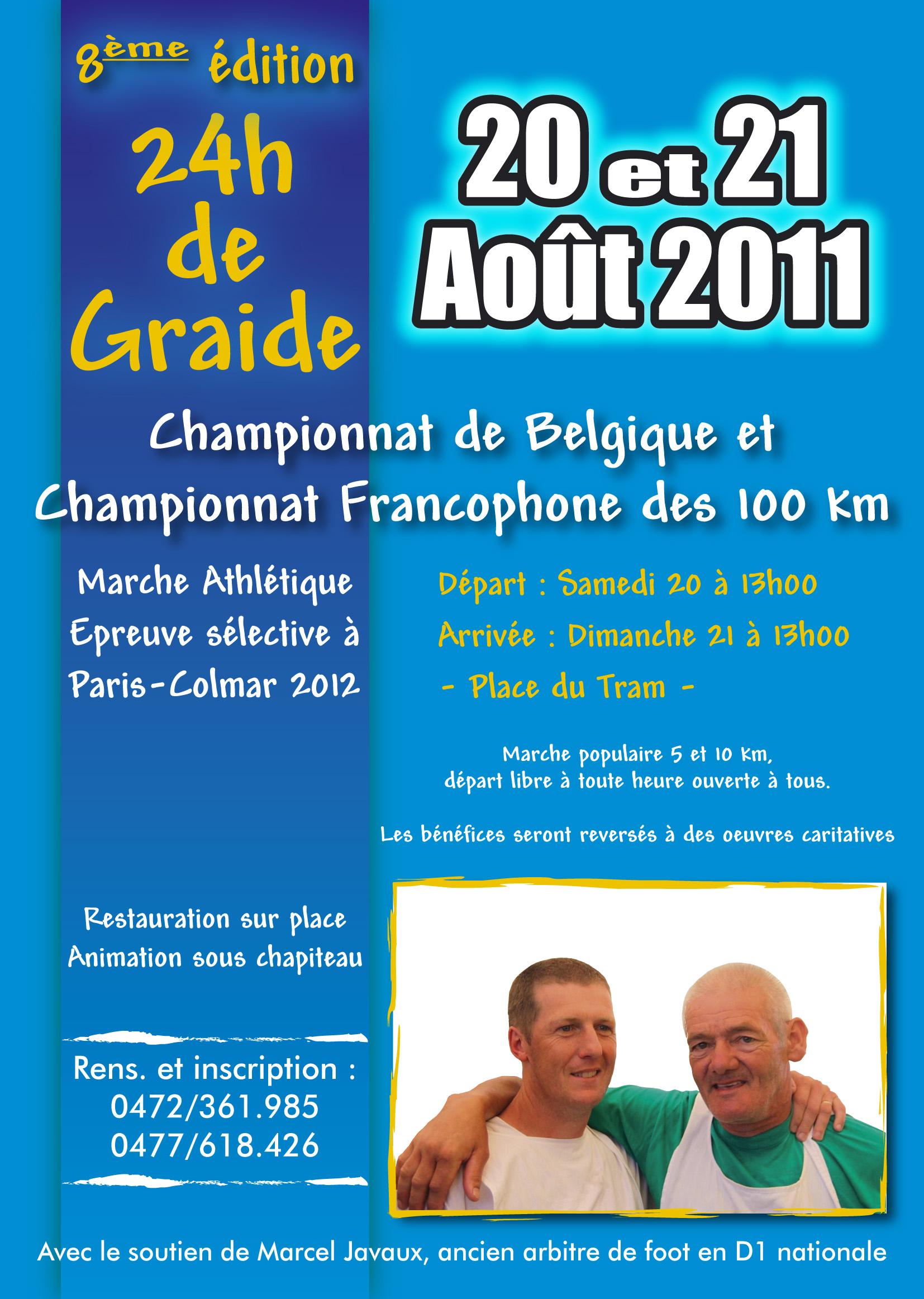 24 heures et 100km de Graide (B): 20-21/08/2011 Demo_AFFICHE_A4_2K11_RVB