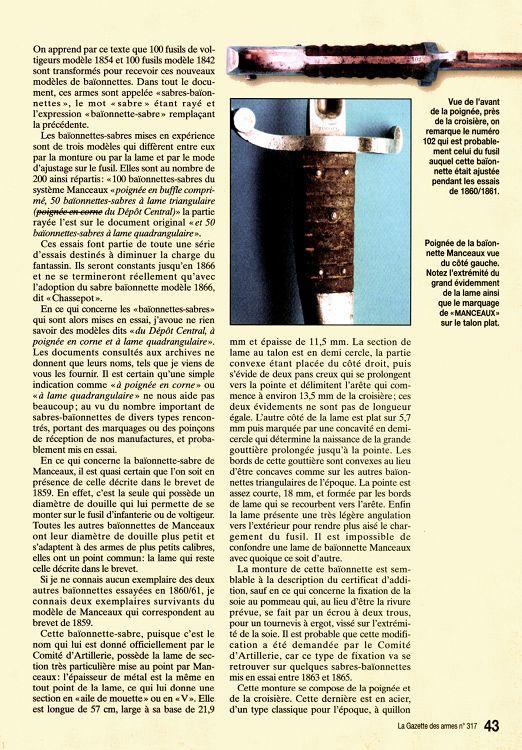 Baïonnette Manceaux-Vieillard 22524-GazettedesArmes-317-Page-043