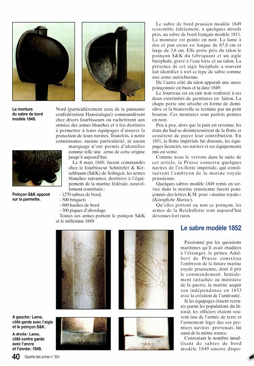 sabre d'abordage manuf. imp. aout 1811 18929-GazettedesArmes-324-Page-040