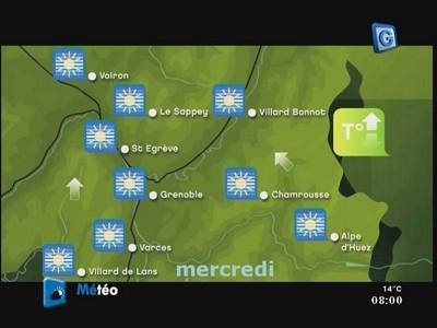 FRANCE Ô en DVB-S clair sur le satellite AB3 le 30 juin 2010 Telegrenoble