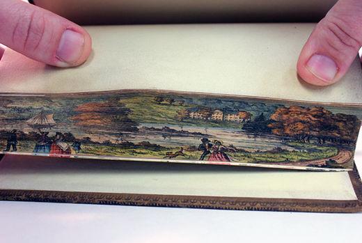 Des peintures secrètes cachées dans des reliures Peinture_livre_tranche