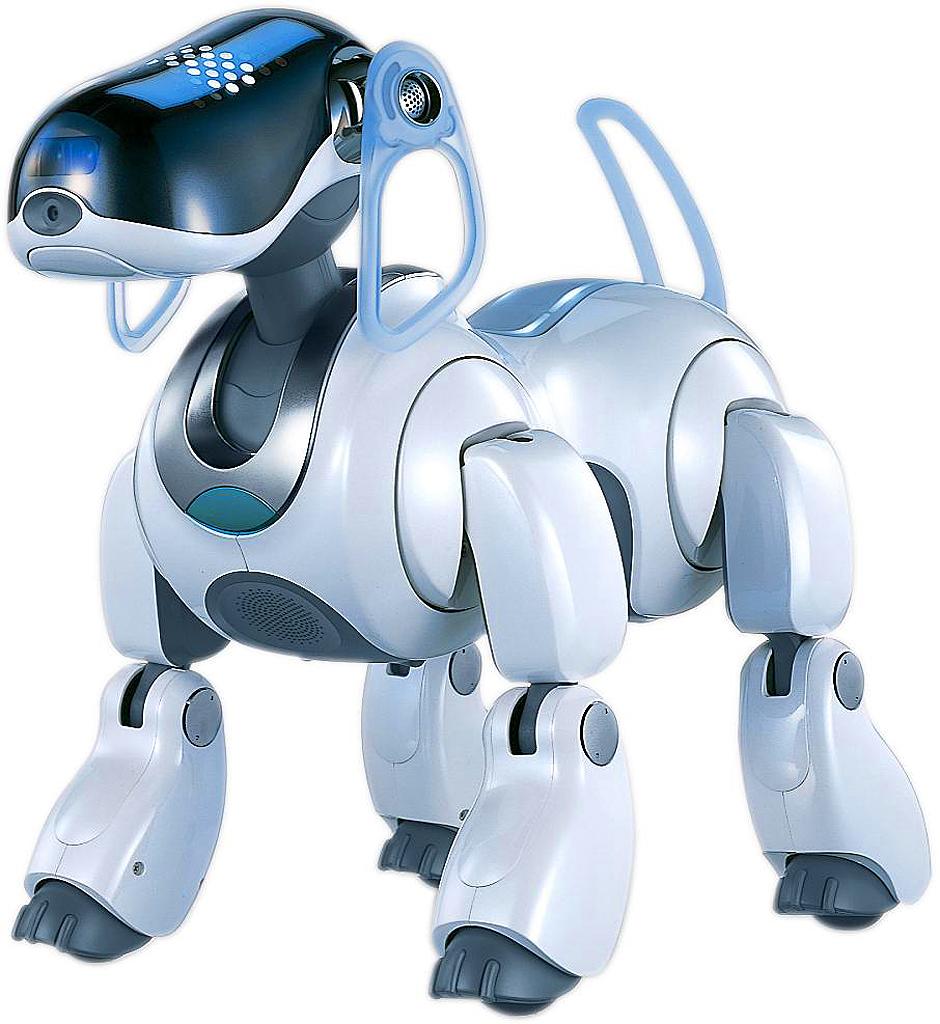Une étrange créature filmée dans une station-essence Aibo-chien-robot