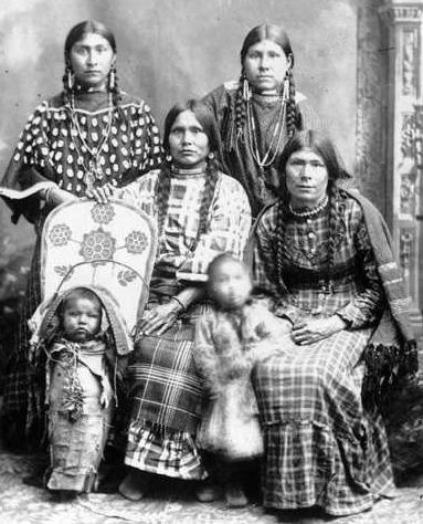 Sjevernoamerički indijanci Shoshone-women