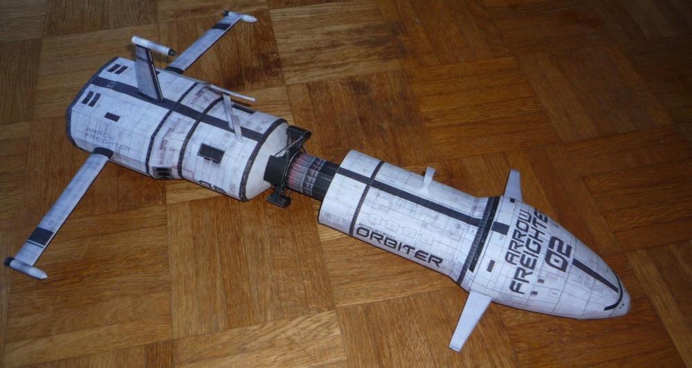 modellino - Costruisci il tuo modellino di carta della Arrow Freighter in scala 1:400! 3319-1_gallery1