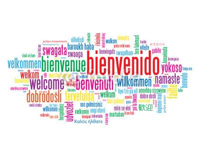 Saludo Bienvenido-Benvingut