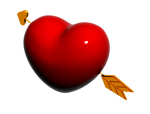 Coração Bunitim [ PSD ] Heart-and-arrow-psd