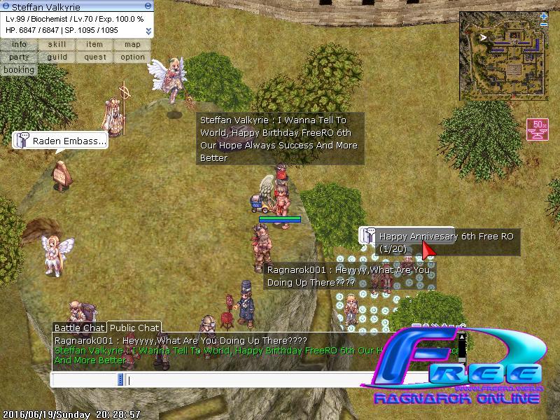 [Pemenang] Event Screenshot 6th Anniversary FreeRO Tyron