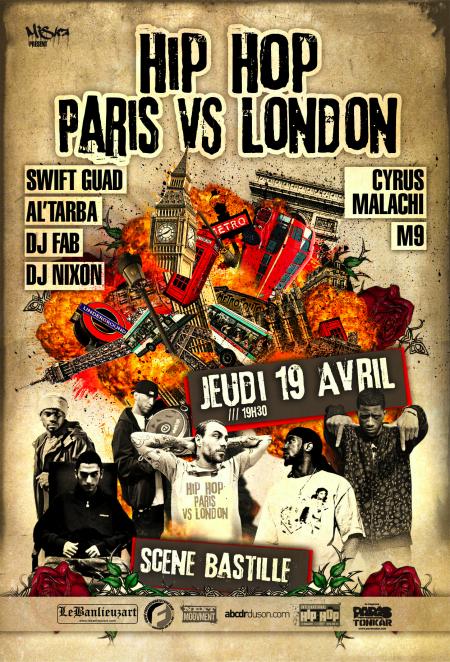 [Paris] Hip-Hop Paris vs. London - VA (19/04, La Scène Bastille) ParisvsLondon