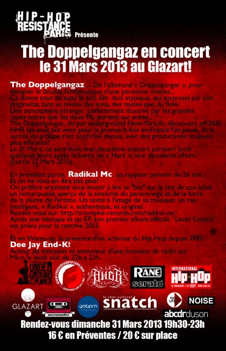 [Paris] The Doppelgangaz @ Glaz'Art (31/03) HHR2