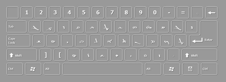لوحة مفاتيح اللغة العربية والسريانية Syrian-keyboard