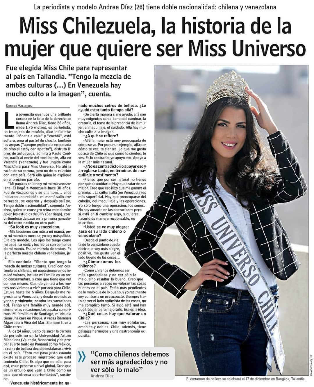 entrevista miss chile universo 2018. 8dgjpime