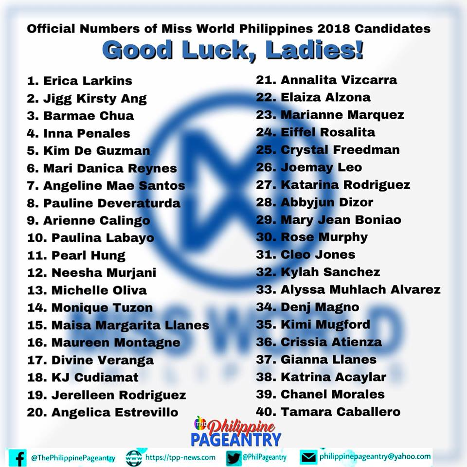 candidatas a miss world philippines 2018. final: 7 oct. - Página 3 8f2paunt