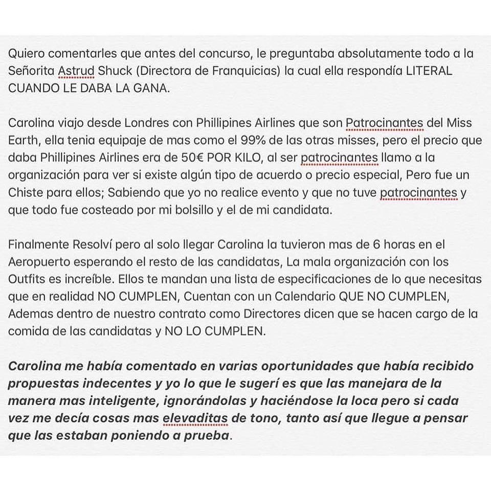 ATENCIÓN: España deja la franquicia de Miss Earth y da unas explosivas declaraciones en voz de su director: @marcelcastellano  33gvmyuf