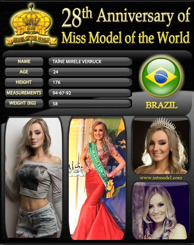 brasil para model of the world 2016. 3e27tx63