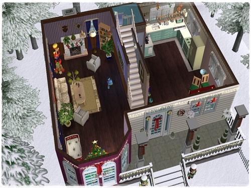 TS2 House:Christmas Starter House (No Cc) Dwo2e5uk