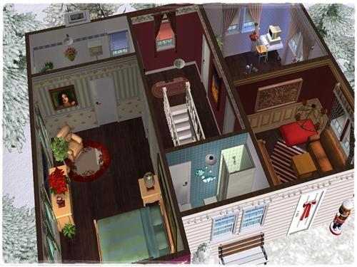 TS2 House:Christmas Starter House (No Cc) Fru3ua9d