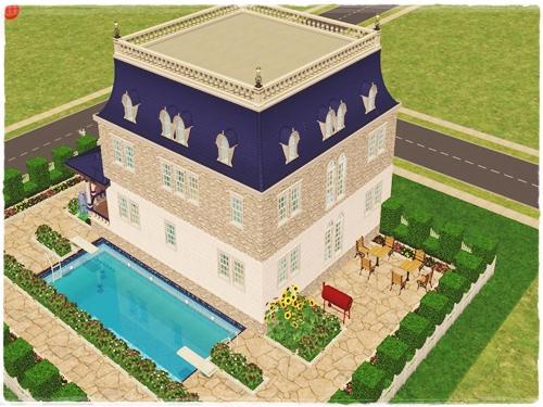 TS2:Little (Blue) Mansion O3jebode