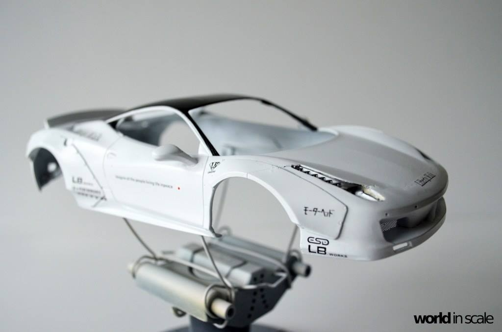"FERRARI 458 ""LIBERTY WALK"" (LB PERFORMANCE) -  1/24 by Fujimi, Hobby Design Nzbpjsrc"