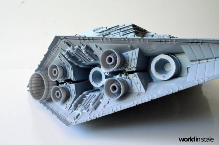 "Star Destroyer ""Imperium I-Class"" - 1/2700 by Revell/Zvezda + Illumination Jsecwory"