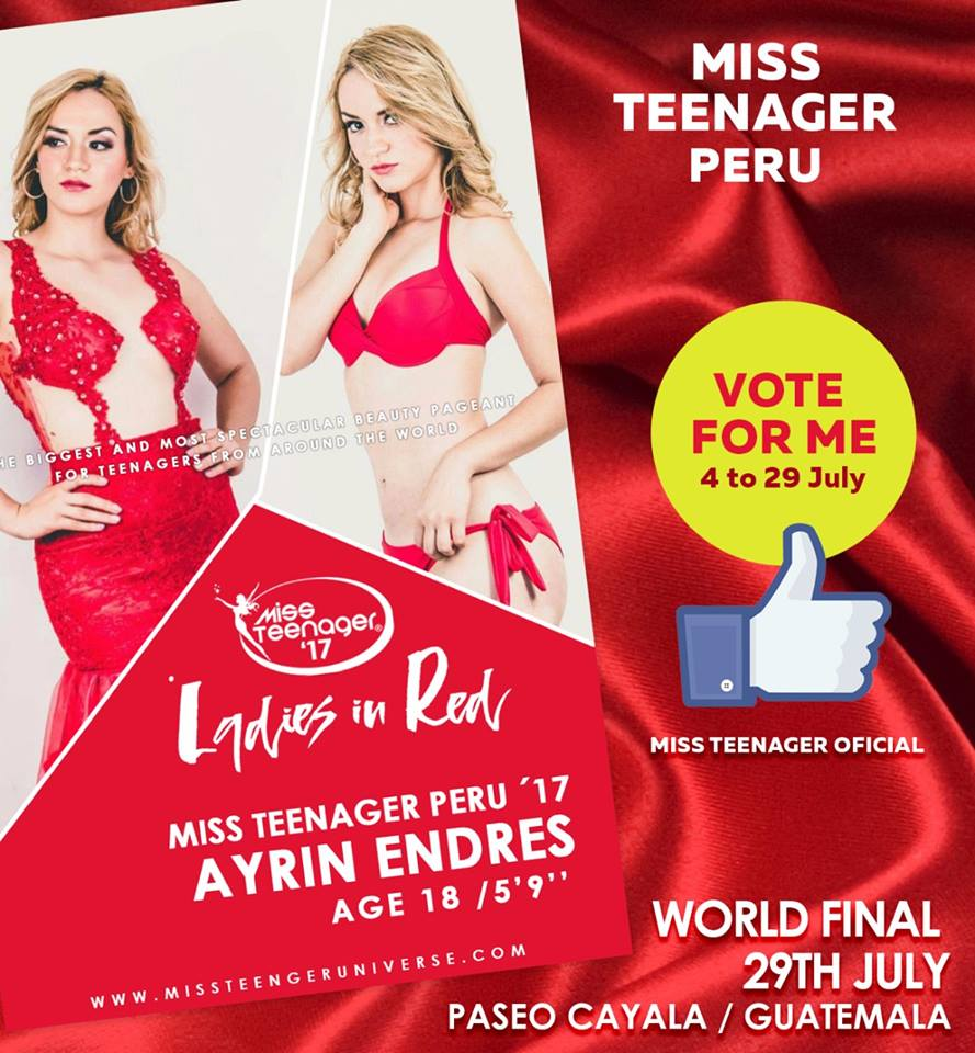ayrin endres, titulo de miss teenager earth 2017. Cnhy634p