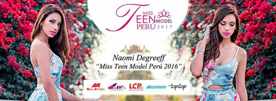 peru, top 3 de miss teen model international 2017. Tiay7ize