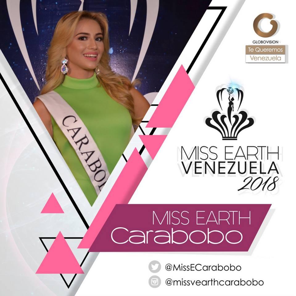 candidatas a miss earth venezuela 2018. final: 12 agosto. T2ver3e5