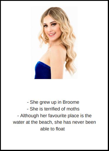 candidatas a miss world australia 2018. final: 31 agosto. Avd2ufp9
