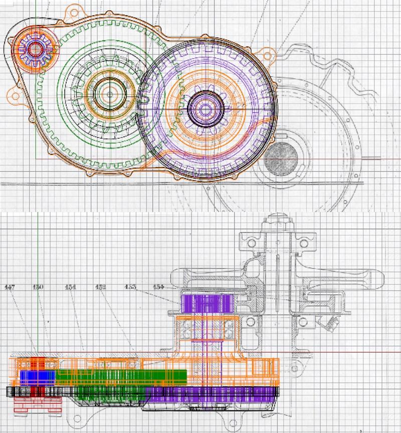 FT-17 Takom 1:16 - Page 4 Reducteur-plan