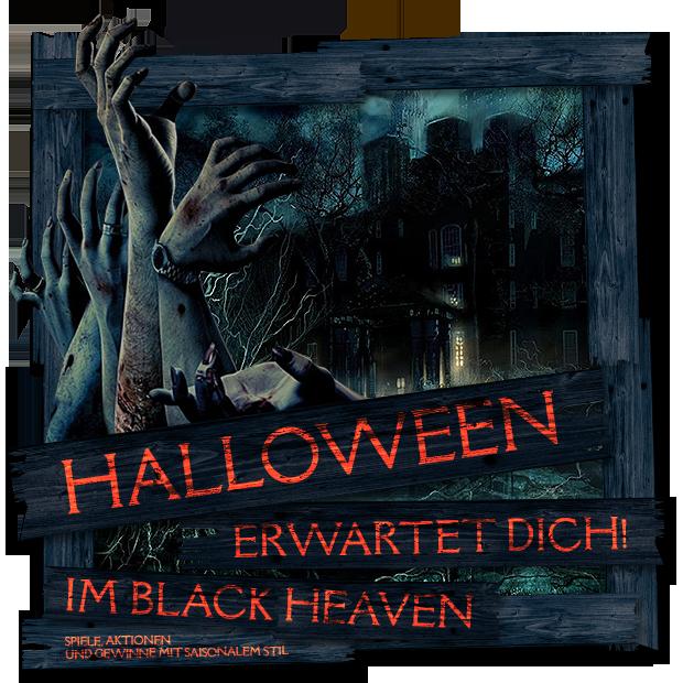 Der Black Heaven wünscht Happy Halloween Werbung