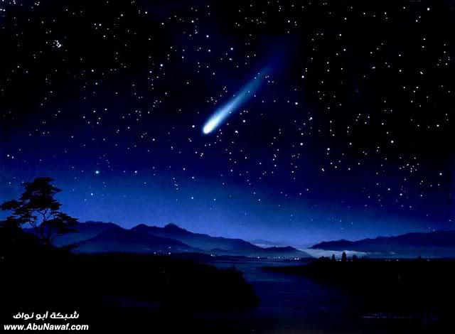 الفضاء الخارجي حقائق وأرقام  Meteor-shower