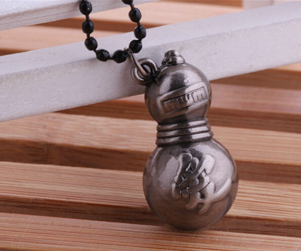 Suna no Sekkan Anime-naruto-gaara-gourd-necklace-The-ancient-silver-beads-necklace-hokage-love-word