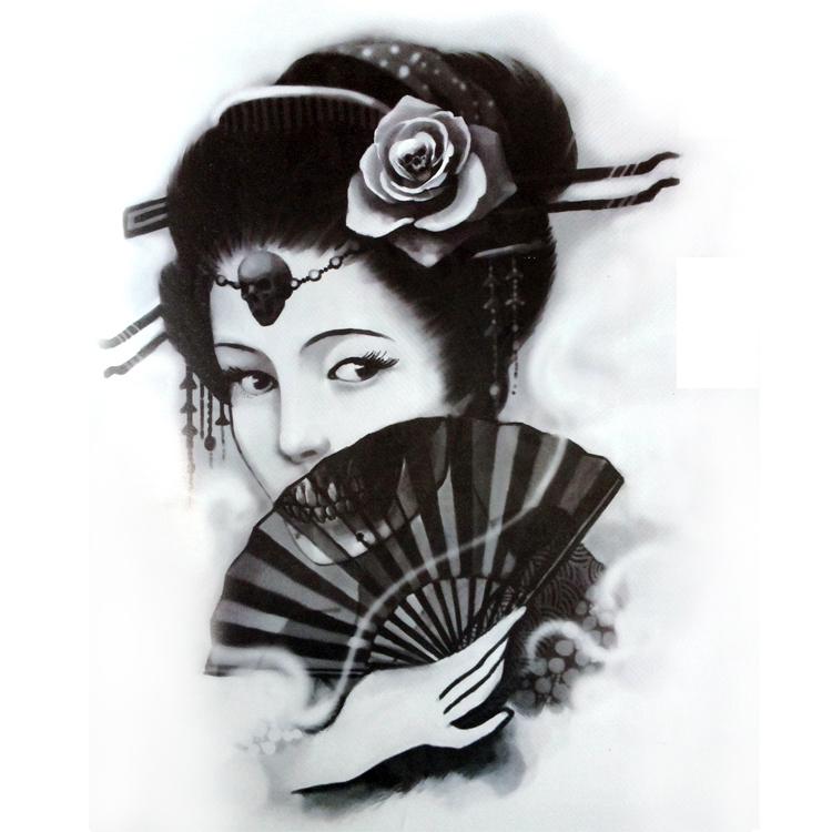 El abanico todo un arte - Página 12 2015-nuevo-tatuaje-libro-cr%C3%A1neo-Unicorn-drag%C3%B3n-bestia-Geisha-dios-de-la-muerte-del-tatuaje-dise%C3%B1os