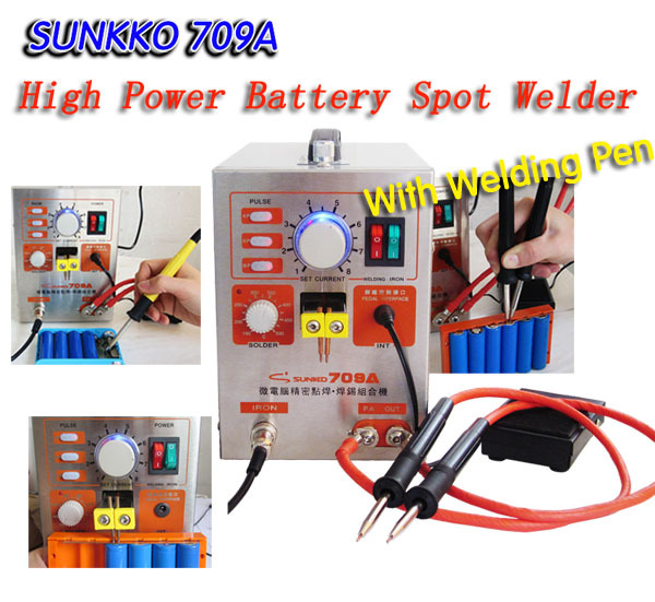 Soldador por puntos SUNKKO-709A-High-Power-Battery-Spot-Welder-Soldering-Station-with-Universal-welding-pen-Power-battery-welding