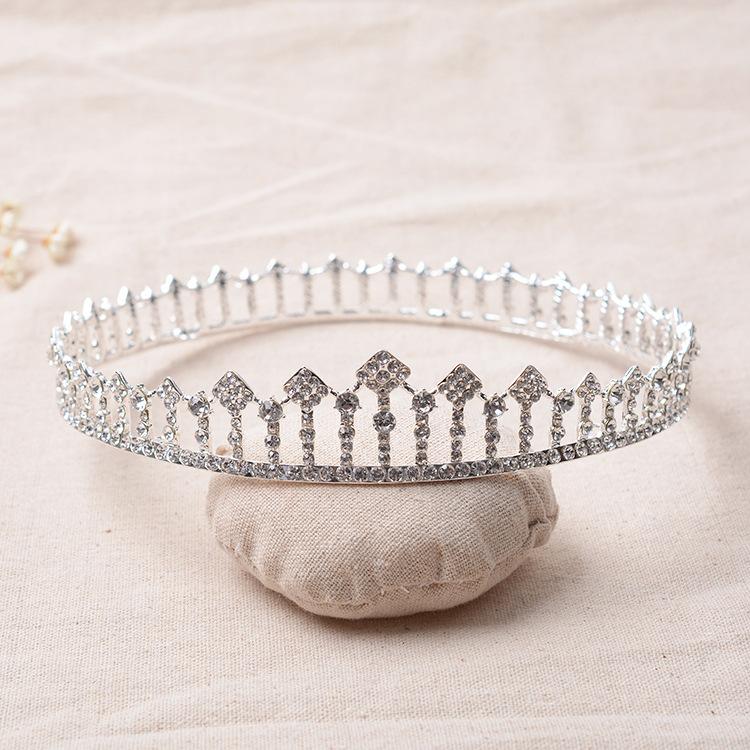 تيجان ملكية  امبراطورية فاخرة Silver-Plated-Crystal-Rhinestone-Bridal-Tiara-Metal-Round-font-b-Crown-b-font-Prom-Pageant-Wedding