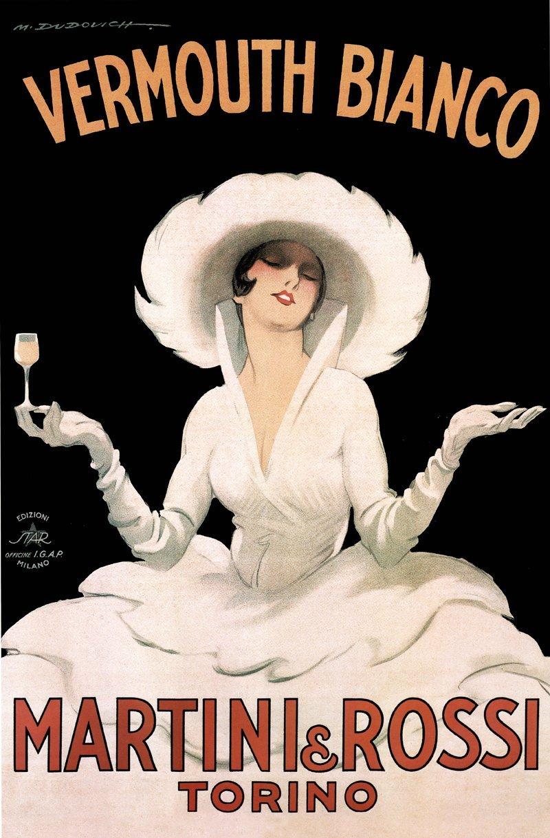"Cartoline ""Vintage"" Marcello-Dudovich-Martini-Rossi-font-b-Vintage-b-font-Alcohol-font-b-Advertising-b-font-Decorative"