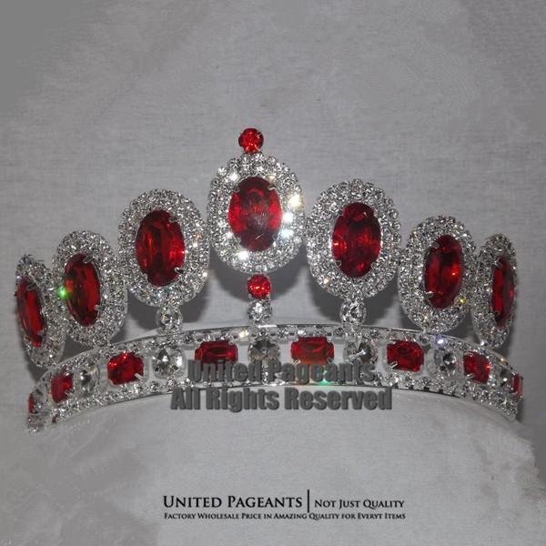تيجان ملكية  امبراطورية فاخرة Bling-Princess-font-b-Ruby-b-font-Bridal-Crown-Pageant-font-b-Tiara-b-font-Wholesale