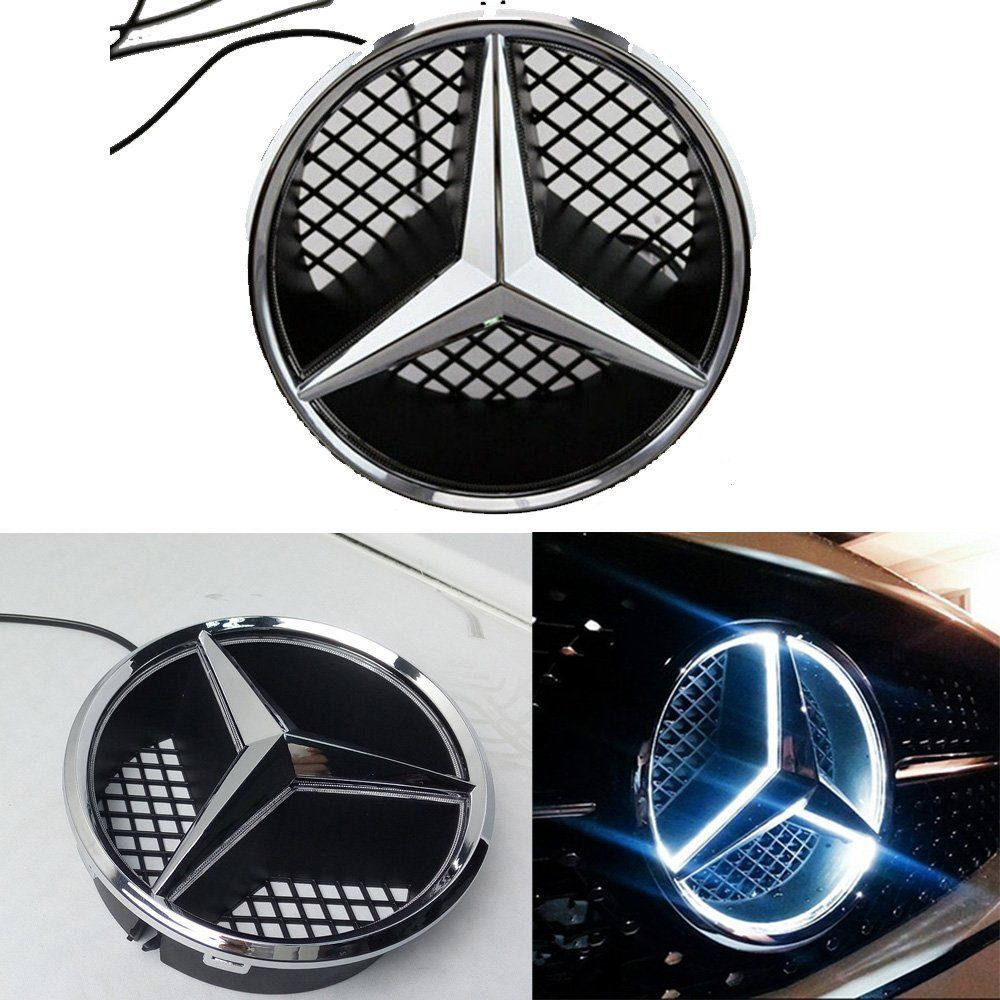 Oldscool, présentation de la 260 SE de mon père - Page 2 LED-Emblem-Logo-Grill-LED-Badge-White-LED-Illuminated-Star-For-Benz-A-B-C-CLS