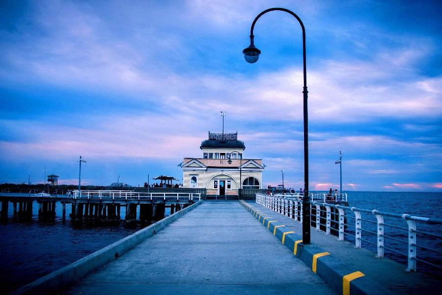 AUSTRALIAN OPEN 2021 - INSCRIPTIONS AUX CONCOURS Melbourne-australie-mer-Bridge-City-paysage-paysage-affiche-tissu-de-soie-affiches-et-gravures-pour-la