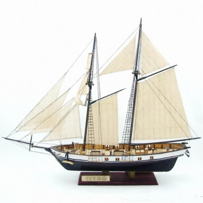 Naitosutōkā (barco) Free-shipping-Scale-1-130-HARVEY-1847-wooden-ship-model-8-pcs-brass-guns
