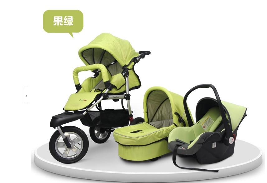 عربات الاطفال Popular-Baby-Pushchair-3-in-1-With