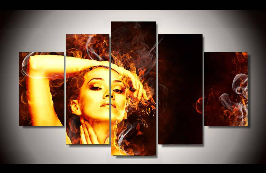 les éléments - Page 7 Framed-Printed-flames-ogon-girl-5ps-picture-painting-wall-art-children-s-room-decor-poster-canvas