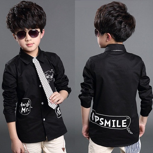 موضة 2015 لصبيان 2015-New-Children-s-Fashion-Summer-Style-font-b-Black-b-font-Clothes-font-b-Boys