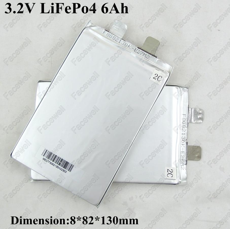 Batería de lifepo de unos 5 ah 10pcs-Real-LiFePo4-3-2V-6ah-3-2v-5Ah-prismatic-lifepo4-battery-3-2v-cell-5000mAh