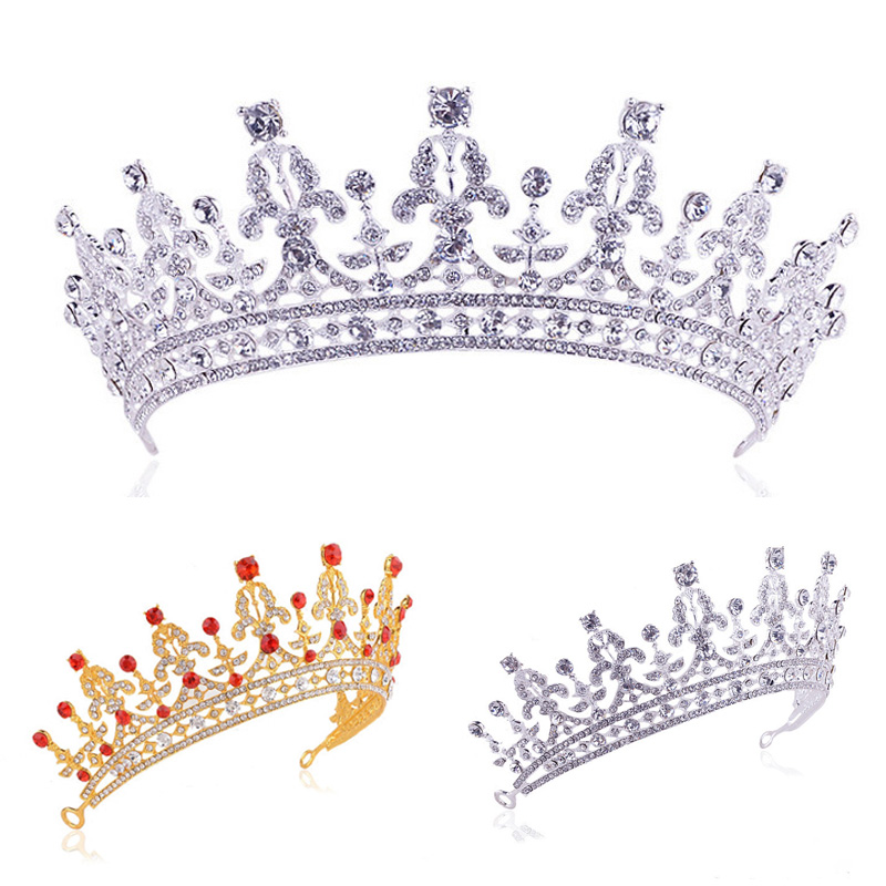 تيجان ملكية  امبراطورية فاخرة Bridal-Princess-Crystal-Hair-Tiara-font-b-Wedding-b-font-Crown-font-b-Veil-b-font