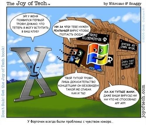 Как обезопаситься на компьютерах МАС? Virus_club