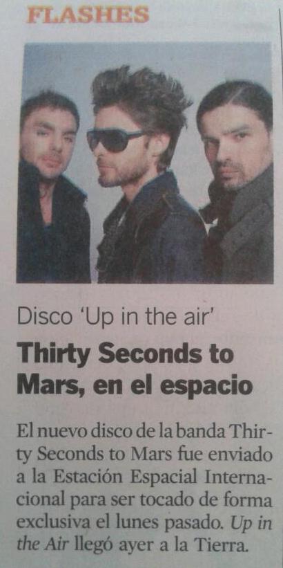 MARS in ECUADOR NEWSPAPER