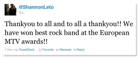 Shannon EMA tweet